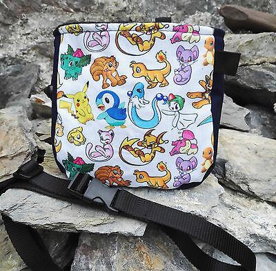 Pokemon Characters Chalk bag for rock climbing bouldering + adjustable belt
