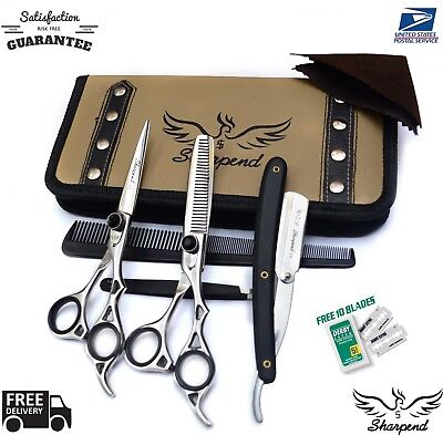 Barber Scissors - Hair Cutting,Thinning Scissors Shears Set Hairdressing Salon Professional/Barber