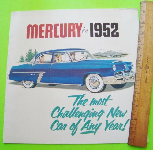 1952 MERCURY HUGE PRESTIGE CATALOG Brochure 24-pgs CONVERTIBLE Woody Wagon XLNT+