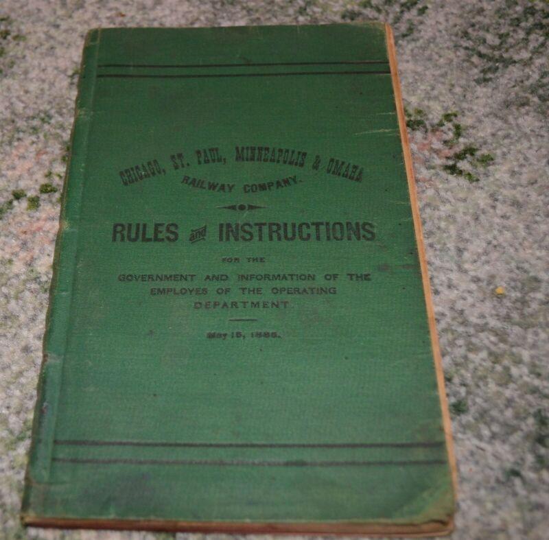 1885 Omaha Railroad Rules & Instructions Book