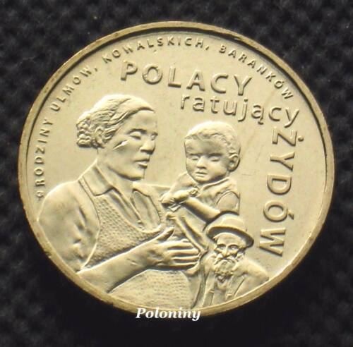 COIN OF POLAND - POLES RESCUING JEWS FROM HOLOCAUST DURING WORLD WAR II (MINT)