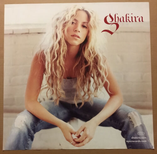 SHAKIRA. Rare 2005 DOUBLE SIDED PROMO POSTER 4 Oral CD 20x24 NEVER DISPLAY USA