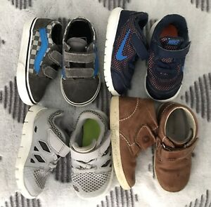 Size 6 toddler shoes - Nike Vans Falcotto