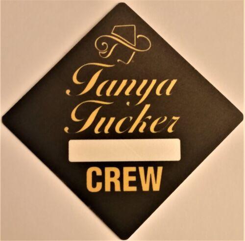 ***** TANYA TUCKER ***** - SATIN CONCERT TOUR BACKSTAGE PASS - CREW - EXCELLENT