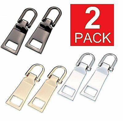 2-Pack Zipper Fixer Repair Pull Tab Kit Bags Replacement Molded Slider Fix #5 Closures & Connectors