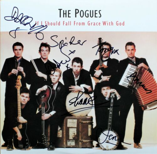 The Pogues If I Should Fall From Grace with God VINYL, SIGNED Shane + 6 RARE!!!