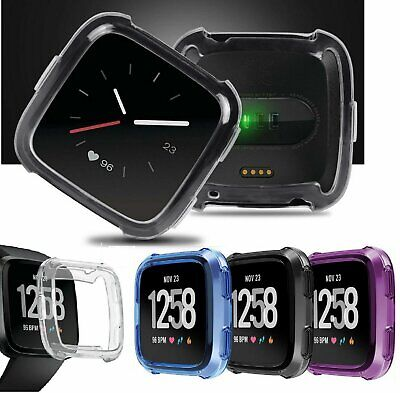 TPU Silicone Cover Case Watch Casing Guard Protector For Fitbit Versa Smart Band Fit Tech Parts