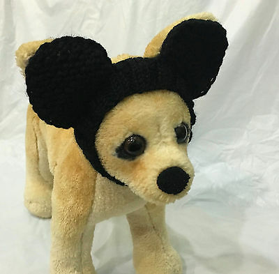 Pet Clothes Apparel Hand-Made Knit Mickey Mouse Costume Headband  Small Dog ](Dog Mickey Mouse Costume)
