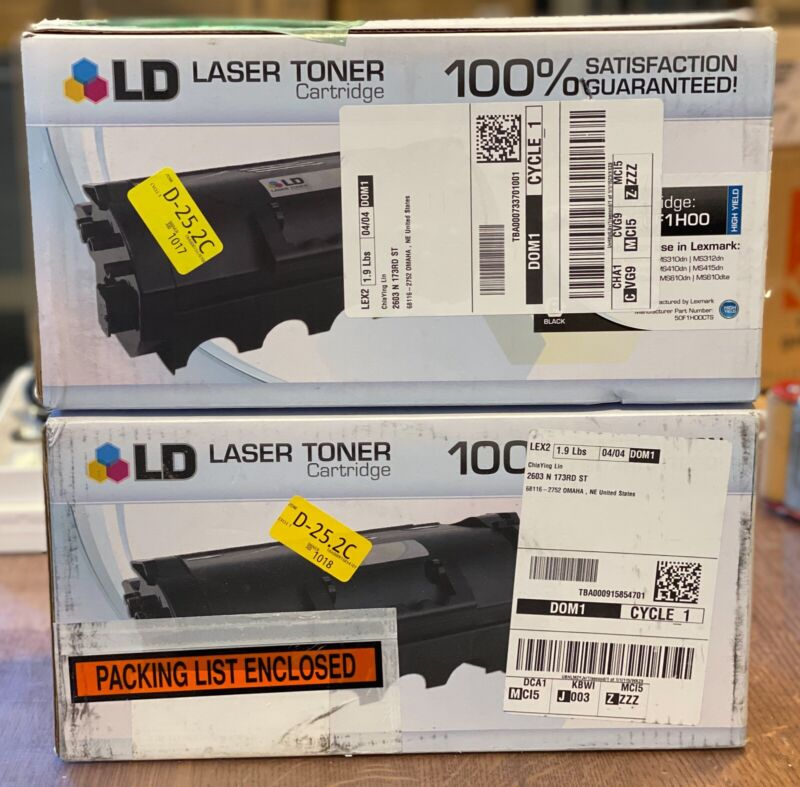 Compatible Replacement for Lexmark 50F1H00  High Yield Black