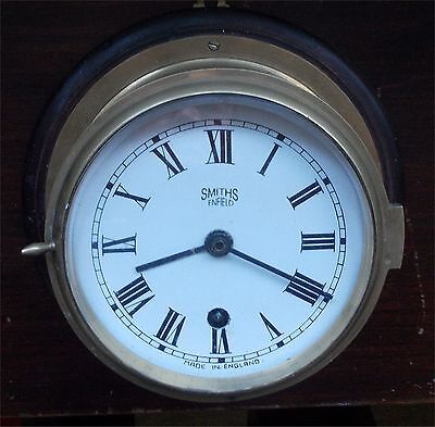 Brass Smiths Enfield ships style wall clock Made in England