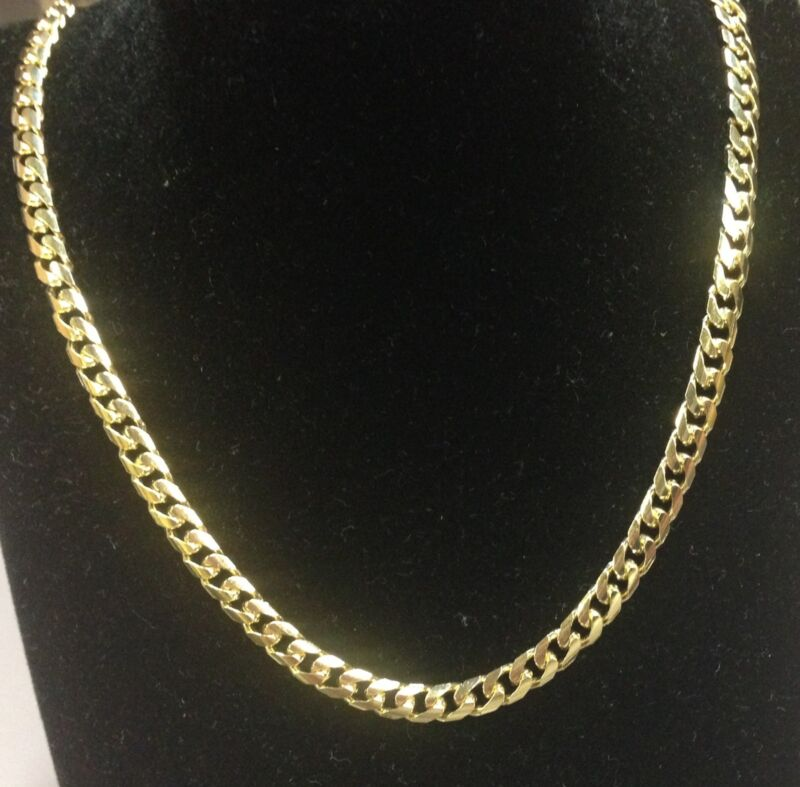 """14kt Solid Yellow Gold Miami Cuban Curb Link 26"""" 5 Mm 38 Grams Chain/necklace"""