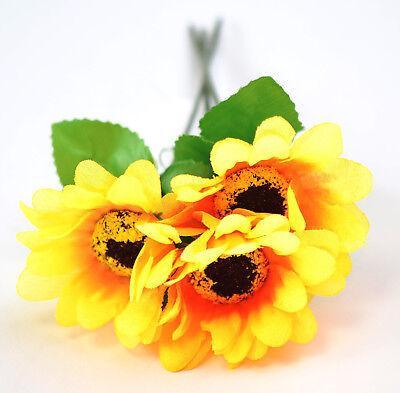 20x Sonnenblume 17 cm Künstliche Blumen Plastikblumen  Kunstblumen