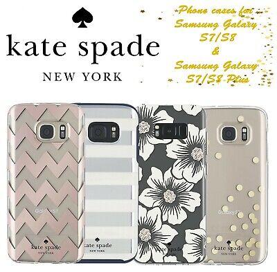 Kate Spade New York Designer Cases Covers Samsung Galaxy S7/S8 Plus Free UK P&P