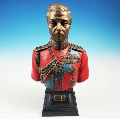 RARE King Edward VIII 8th Portrait Bust Sculpture Otakar Steinberger Polychrome