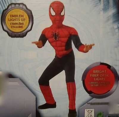 Ultimate Spider-Man LIGHT-UP Muscle Costume Marvel Comics SZ - Ultimate Comics Spider Man Kostüm