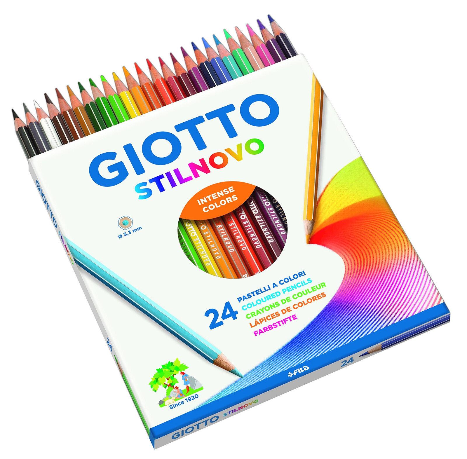 Giotto Stilnovo 24 Pastelli a Colori Tratto 3,3 mm Matite Colorate Astuccio Fila
