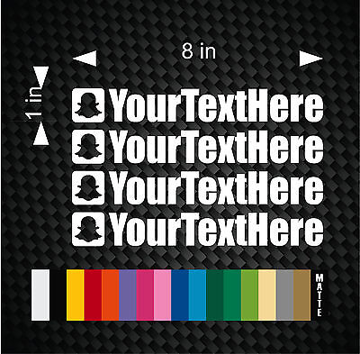 4X Your User Name 8  Snapchat This Euro Drift Vinyl Decal Sticker Coop Custom