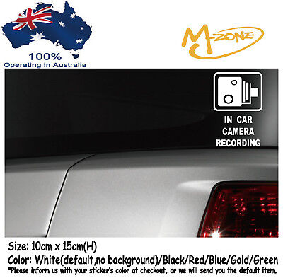 IN CAR CAMERA RECORDING Car Security Stickers Anti Theft Decals Best Gifts
