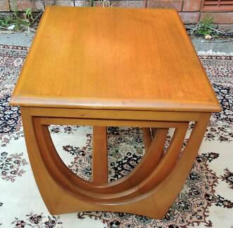"Mid Century Retro Danish Style ""Kalmar Nest of 3 Tables"