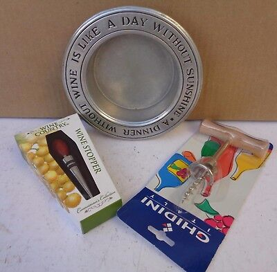 - Wine Bottle Coaster Wilton A Meal Without Wine Is Like A Day Stopper Opener