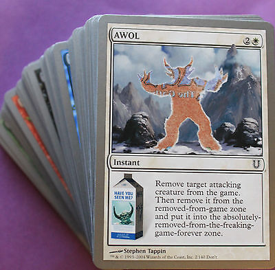 UNHINGED 4x Common Complete PLAYSET Magic NEAR MINT Set (4x 55 Comuni Cards) C.C for sale  Shipping to South Africa