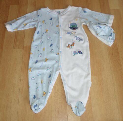 Noa's Ark Baby Boy 6 Months One Piece Cotton Romper + Hat