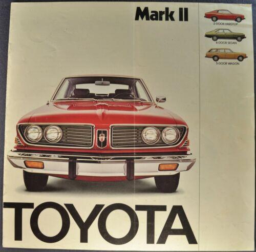 1974 Toyota Mark II Catalog Sales Brochure Sedan Wagon Hardtop Original 74