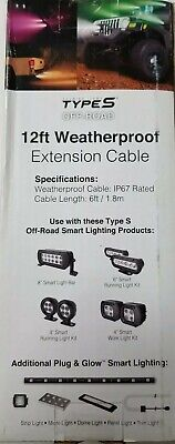 Type S OFF-ROAD 12 ft (2 X 6 ft) Weather Proof Extension CAR Cable - Off Road Type