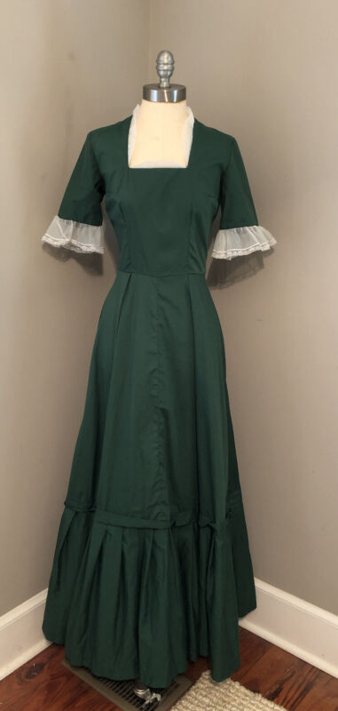 VTG Historical Dress Costume Reenactment Colonial Civil War Pioneer Prairie XS