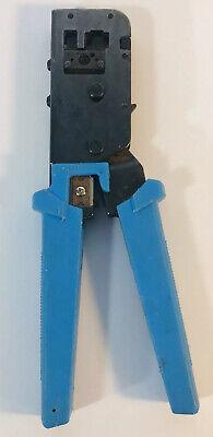 Modular Crimp Tool 8prj45 6prj12 Crimper Cutter Stripper Flat Cable Platinum