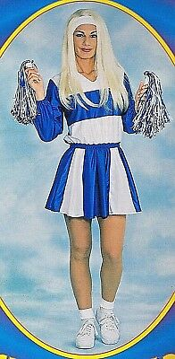 Cheerleader Dancer Costume Sexy Blue Dress Sports Dallas Cowboys *Free Pom Poms*