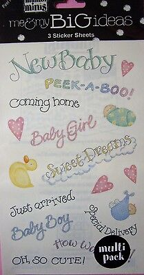 - NEW BABY SAYINGS Just Arrived Boy Girl ME & MY BIG IDEAS MAMBI MINIS Stickers