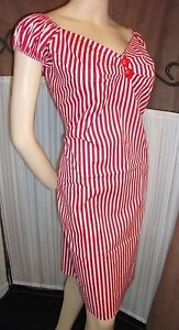 Vintage-Style-Retro-50s-Rockabilly-Mad-Men-Style-Stripe-Wiggle-Dress