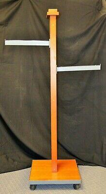 Cherry Wood Clothing Display Rack 2 Straight Arm -used