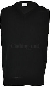 Mens Plain Sleeveless Sweater Jumper Tank Top Jersey Golf Casual