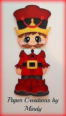 Craftecafe Mindy Christmas Nutcracker premade paper piecing for scrapbook page
