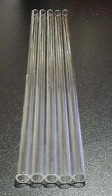 12 Borosilicate Glass Tubes 10mm Od 15 Clear Pyrex Tubing 1.5mm Medium Wall