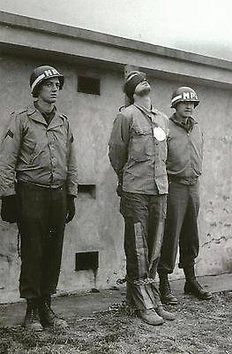 German Spy Firing Squad PHOTO World War 2, Execution, US Army MP Military Police