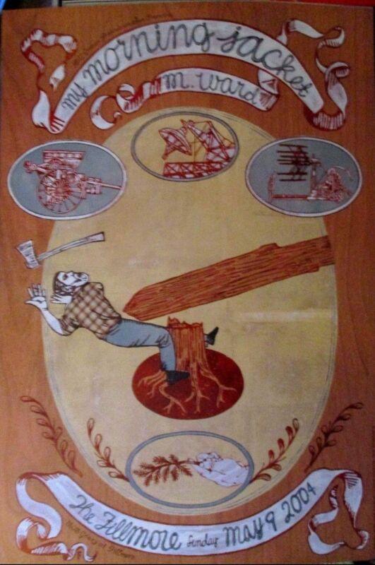 MY MORNING JACKET FILLMORE POSTER Original Bill Graham M. Ward F618