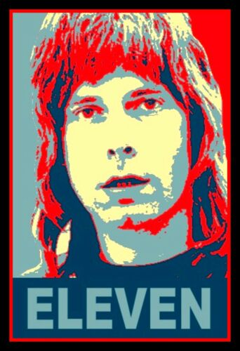 "4.5"" Funny Nigel Tufnel ELEVEN vinyl sticker. Spinal Tap movie decal for guitar."