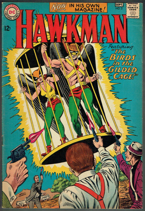HAWKMAN  3  FN-/5.5  -  3rd issue from 1964!