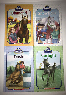 4 Breyer Stablemates Horse Pony Books Hardcover Diamond , Dash , Starlight Lot