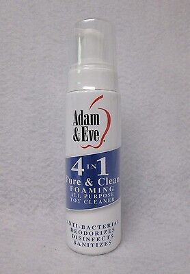 Adam & Eve 4 In 1 Pure Clean Mist All Purpose Adult Toy Sanitize 8oz No Alcohol  (Adam And Eve Adults)