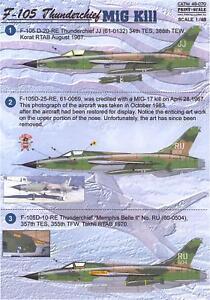 Print Scale Decals 1/48 REPUBLIC F-105 THUNDERCHIEF MiG Killer