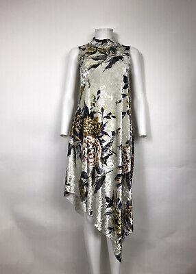 RARE VTG MAISON MARTIN MARGIELA MM6 IVORY VELVET FLORAL DRESS XS