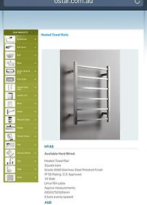 Stainless Steel Heated Shower Rail Cecil Park Liverpool Area Preview
