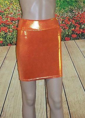 MEDIUM Metallic Burnt Orange Spandex Bodycon Mini Skirt --- you WANT one