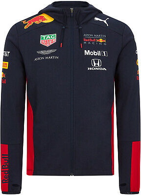 PUMA Red Bull Racing 2020 Men's Hoodie Full Zip Hoody Sweatshirt Fleece Hooded
