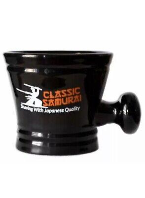 Ceramic Shaving Bowl  Mug  Cup for Shaving Brush and Safety Razor Soap Black