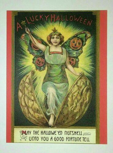 *UNUSED* Halloween Postcard: Halloween Nutshell Vintage Image~Reproduction